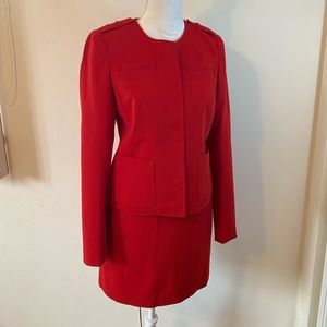 Ann Taylor power skirt suit.